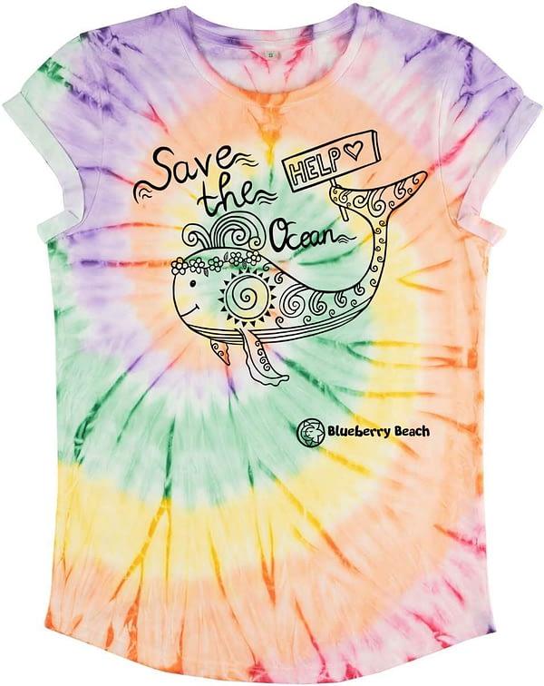 Save the ocean tie dye