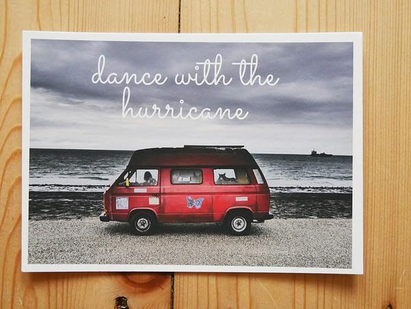 Dance with the hurricane postcard