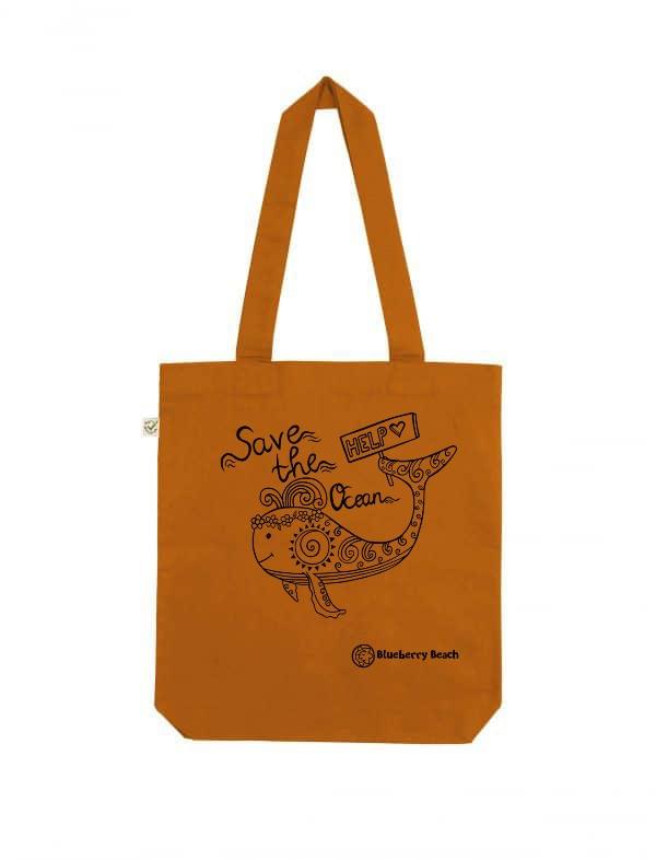 Save the ocean cinnamon tote bag