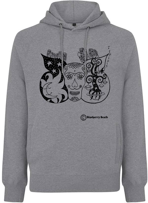 Sugar skull grey hoodie