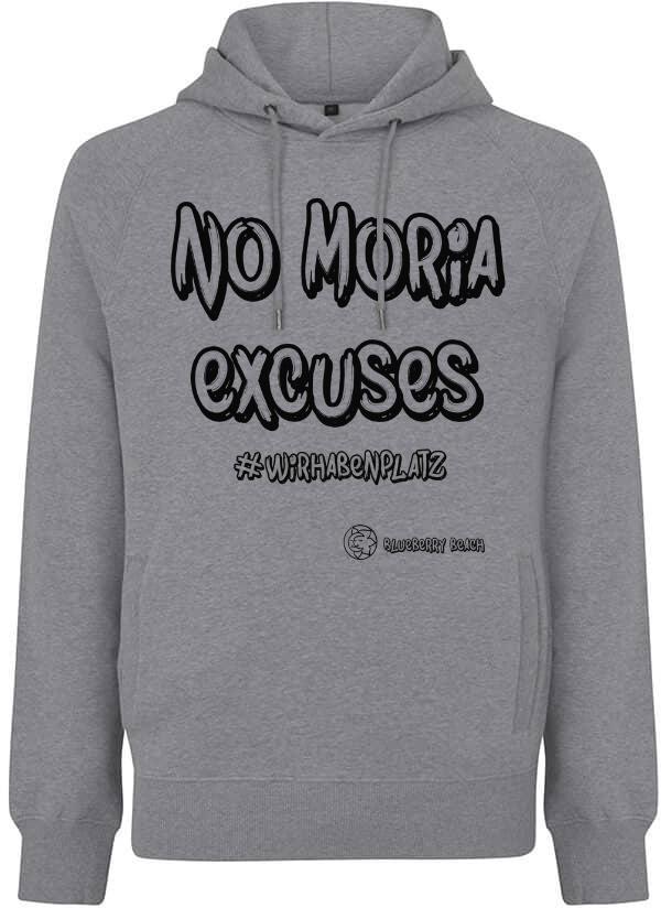 No Moria excuses grey hoodie