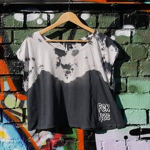 fck nzs tie dye upcycled vinatge t-shirt