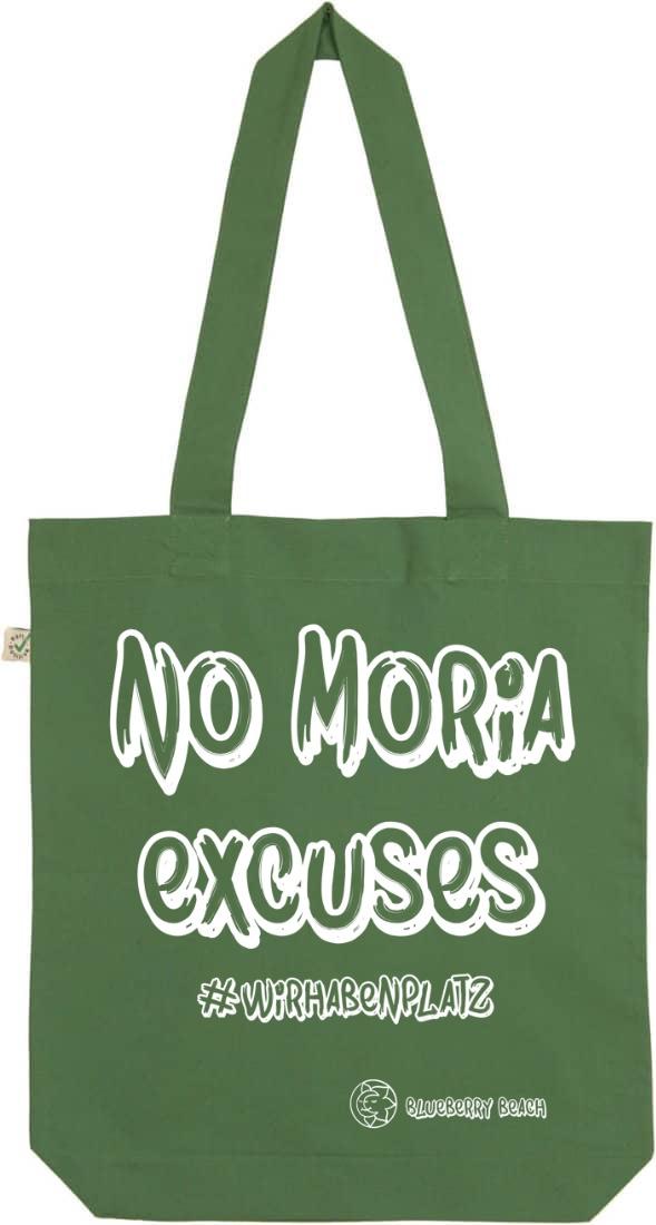 No Moria excuses leaf green tote bag