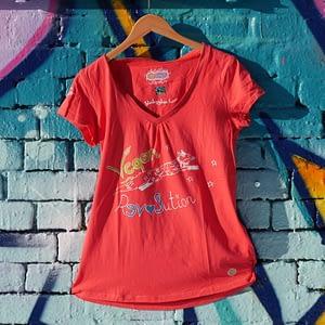vegan revolution pink upcycled t-shirt