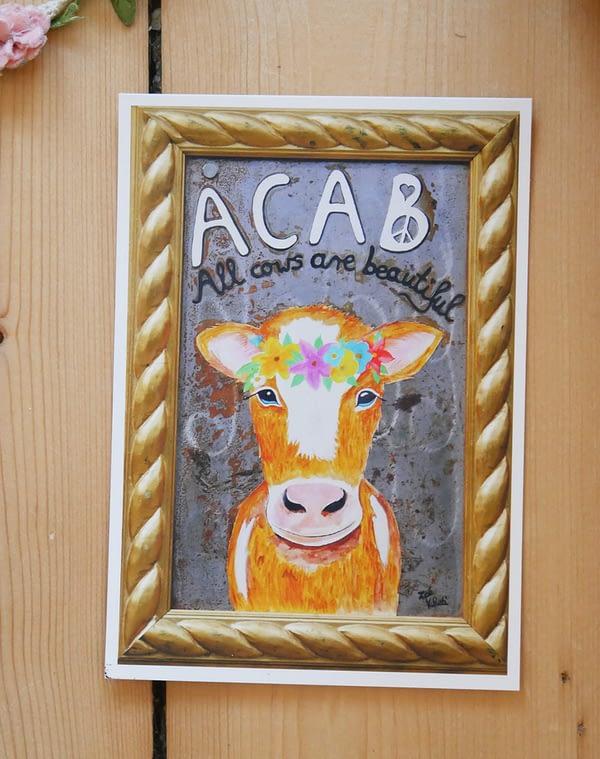 ACAB - All cowa sre beautiful Postkarte