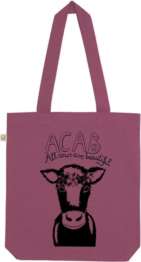 Acab all cows are beautiful Berry tote bag