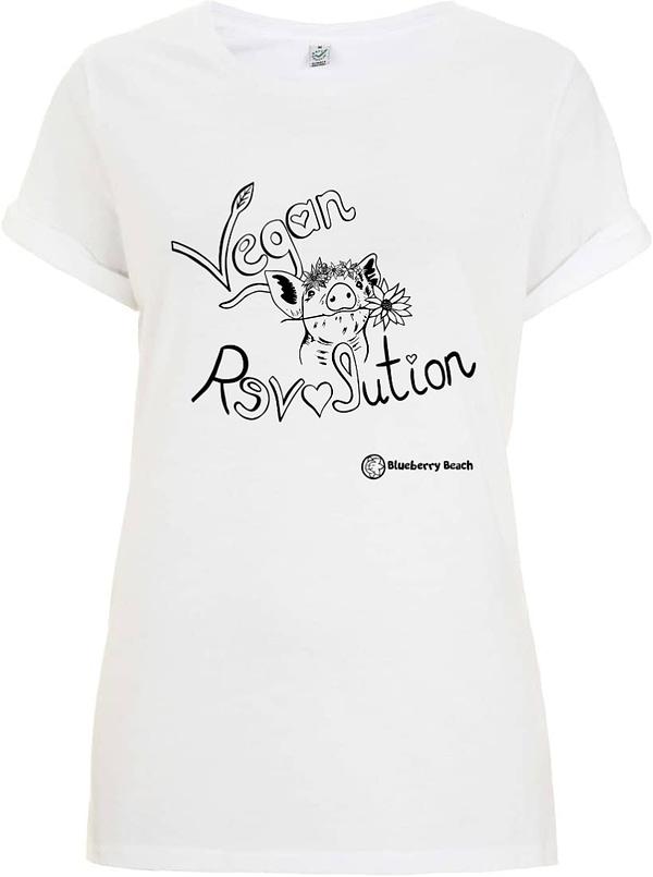 Vegan revolution white organic t-shirt