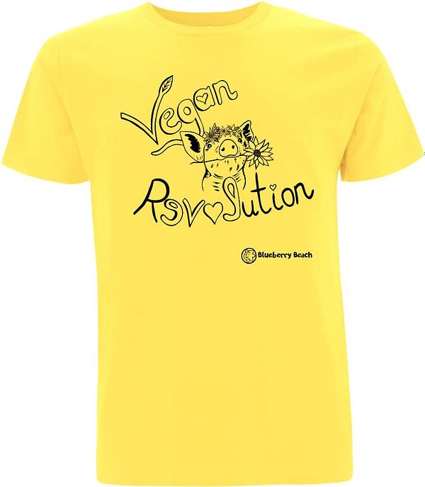 Vegan revolution t-shirt organic men